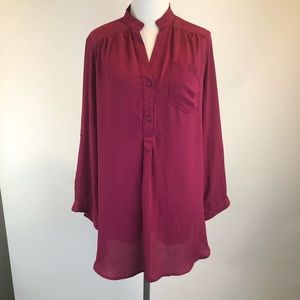 41 Hawthorn Stitch Fix Pink Tunic Blouse SZ L